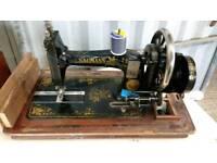 Vintage old Hand Crank Sewing Machine spares or repair
