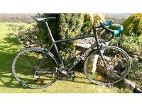 Decathlon 500SE Carbon forks 60cm XL frame cycle road bike