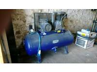240v single phase air compressor 250 ltr 28cfm