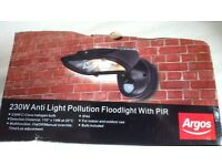 Floodlight Anti Pollution 230W with PIR Brand new and boxed.