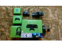 Xbox one with kinect and headset