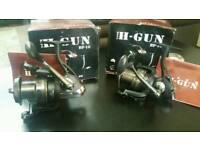 Nash H Gun BP-10 BIG Pit Reels x 2