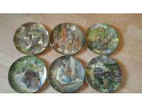 Wedgwood ' Wind in the willows ' collectors plates x6