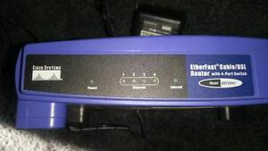 LINKSYS ROUTER 4 PORT SWITCH $10