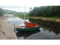 10ft mirror sailing dinghy boat with road trailer