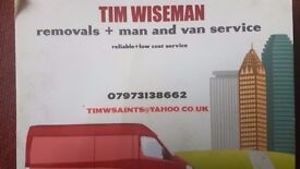 man and van/small removals service-reliable,low cost-student moves,ebay/pickups ,storage units etc!