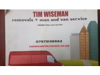 Man and van/removals service.reliable sensibly priced service.smaller moves,student/storage moves ..
