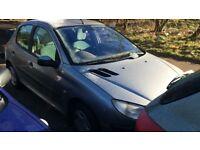 2002 Peugeot 206 GLX 5dr Hatchback 1.4L Grey Petrol BREAKING FOR SPARES