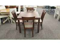 Julian Bowen Melrose Extending Dining Table & 4 Chairs Can Deliver