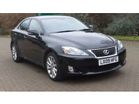 LEXUS IS 2.2 220D 4d 175 BHP SAT NAV,LEATHER TRIM,PARKING CAMERA FULL SERVICE HISTORY (9 STAMPS