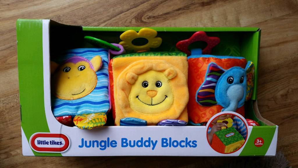 Baby Little Tikes Jungle Buddy Blocks BNIB