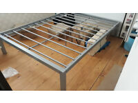 Free Double Bed Frame, metal & flat packed