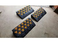 Kerb/ Curb Ramps (Non-Slip) Set of 3 with fixtures