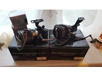 X2 shimano big baitrunner reels plus 2 spare spools very good condition