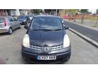 Nissan Note SE 2007 Automatic . Black 1.6L petrol. 1 owner 2 keys MOT Febuary 2017