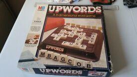 MB GAMES – UPWORDS – 3 DIMENSIONAL WORD GAME 1985