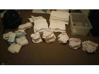 Massive Job lot birth to potty reusable/ washable nappy pack