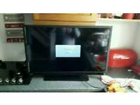 Toshiba tv with Stand blue ray dbd
