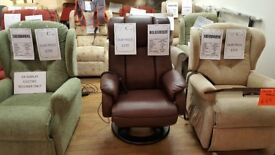 Relaxateeze Averna Dual Motor Power Recliner Leather Chair, Free Delivery*