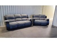 3 + 2 recliner in very good condition - 4months old // free delivery