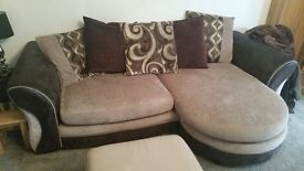 Smart, comfy DFS sofa. 2 years new. Seats 3-4 adults