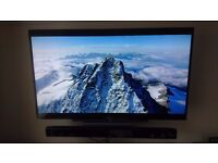 "Sony KDL-48W605B 48"" TV (with wall bracket) and LG Soundbar with Subwoofer"