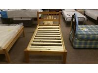 GREAT CONDITION! astra pine bed frame single bed
