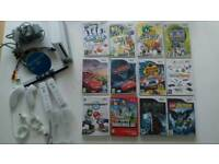 Nintendo wii console with 13 games