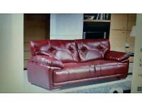 Real leather sofa like new 12 months old