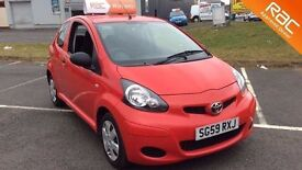 Toyota Aygo 1.0, 2009, ideal first car, Bright red, 3 months warranty. Very good condition