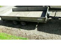 Ifor Williams 14 foot plant trailer