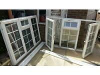 Upvc white double glazed windows.