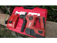Professional Hilti TE 4-A22 SDS Hammer Drill with Battery, Charger + Case! Excellent working Order!