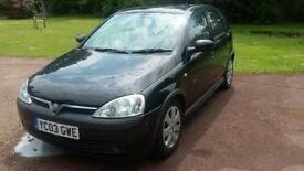 Vauxhall Corsa SRI, 2003 1.2 engine Lovely economical car MOT March 2019