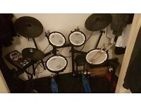 Roland td 11 electric drum kit, excellent condition with double bass pedals