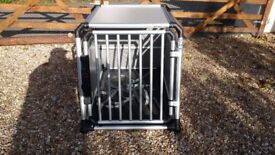 Dog Car Transport Crate / Cage . Proline Eagle Large, made in Switzerland. TUV crash rated.