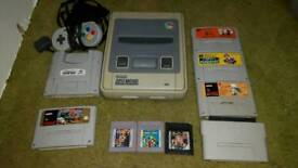Nintendo snes all leads 1 controller 6 games