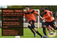 London Tigers Semi Pro Team Trials
