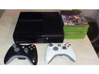 Xbox 360 With Games, 2 wireless controllers and Headset.