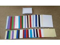 50 x ASSORTED BLANK CARDS & ENVELOPES