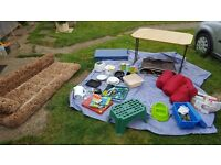 Various camping equipment for sale