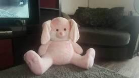 huge pink cuddly bunny
