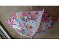 Hello kitty girl umbrella