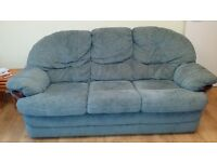 SOFA 3 seater, turquoise, easy clean fabric
