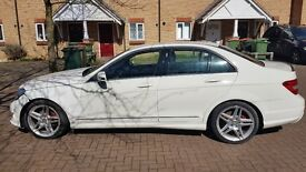 2011 MERCEDES-BENZ C180 AMG SPORT BLUEEFFICIENCY WHITE Salvage Repaired