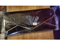 Black suede clutch bag - brand new