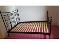 Standard Double Bed Black Frame with Mattress