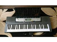 Yamaha EZ-200 61 Full-Sized Touch Sensitive Lighted Keyboard Bundle