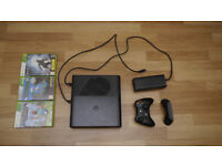 XBOX 360 & 3 Games (Halo 4, Minecraft, Terraria)