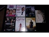 7 DVDS.CARRIE.GLADIATOR.BRIGET JONES DIARY ETC.NEW.